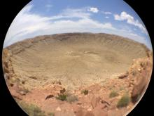 Barringer Crater - olloclip fisheye