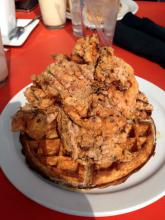 A chicken. Fried. And a waffle.